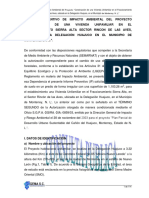 Informe Preventivo de Impacto Ambiental Del Proy Const Casa Habitacion