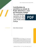 Contribuições da semiótica ao estudo da ficção televisiva