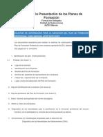 Guía Para La Presentación de Los Planes de Formación