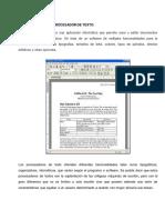 El Concepto de Procesador de Texto