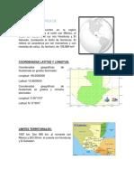 volcanes y rios de guatemala sierras y limites del pais aerea y maritima