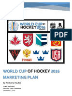world cup of hockey marketing plan