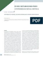 Alteraciones Del Metabolismo Óseo y Mineral en Enfermedad Renal Crónica Pre-diálisis