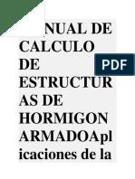 Manual de Calculo de Estructuras de Hormigon Armadoaplicaciones de La Norma Din 1045ing