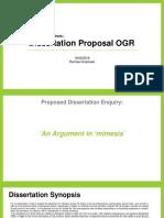 Critical Perspectives   Dissertation Proposal OGR