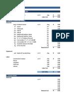 PM BOQ Construction Material Estimate Sheet
