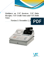 2015 11 01 VAT Guidance on Invoices Sales Receipts Credit Notes and Debit Notes