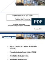 Supervision NTCSER Calidad Producto
