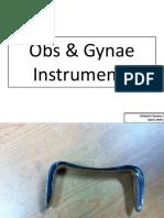 Obs & Gynae Instruments