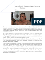 En EEUU Se Entrenó Jefe de La 18 Para Sembrar El Terror en Honduras