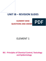 Unit Ib – Element-wise Questions Revision Slides