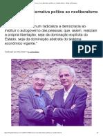Comum_ Uma Alternativa Política Ao Neoliberalismo – Blog Da Boitempo