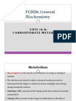 Unit 7 8 Carbohydrate Metabolism (1)