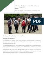 Unos 8,000 estudiantes de 16 centros educativos en San Pedro Sula, en riesgo por inseguridad.docx