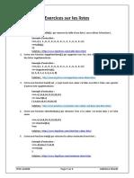 Exercices Sur Les listes en Python