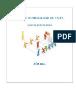 Manual de Funciones Municipalidad