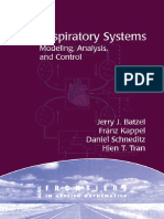 Respiratory Systems. Modeling Analysis and Control. Batzel
