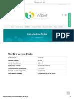 Calculadora Solar - Wise 680 Reais