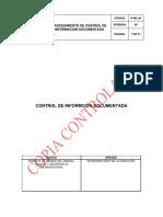 P-mc-04 Control de Informacion Documentada v8