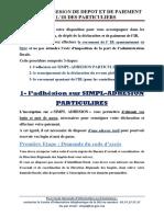 GUIDE+DADHESION+DE+DEPÖT+ET+DE+PAIEMENT+DE+LIR+DES+PARTICULIERS