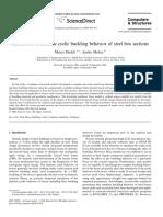 Simulation Inelastic Cyclic Buckling Behavior Steel Box Sections