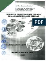 DIRECTIVA 042 - 2017 FINALIZACION DEL AÑO ESCOLAR NORMAS Y ORIENTACIONES 2017.pdf
