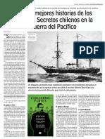 Diario Las Últimas Noticias de Santiago, Chile 18-02-2018 Las Tres Mejores Historias de Los Servicios Secretos Chilenos en La Guerra Del Pacífico.