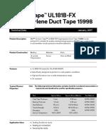 3M Venture Tape 1599B TDS v12-2017