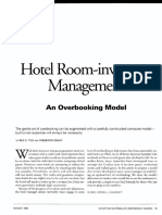 Hotel Room-Inventory Management - An Overbooking Model
