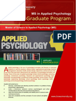 Course Outline Ms Applied Psychology