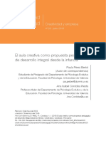 El Aula Creativa Como Propuesta Pedagogica Para La Mejora de Los Aprendizajes Ccesa007