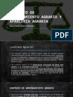 Arrendamiento Agrario y Aparceria