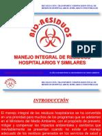 Manejo Integral de Residuos Hospitalarios y Similares