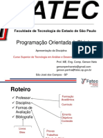 POO - Prof. ME. Eng. Gerson Neto - M. Gerson Neto - M. Gerson Neto
