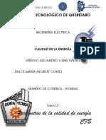 CALIDAD DE ENERGIA PARÁMETROS.
