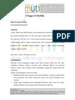 Cara Membuat Trigger Di MySQL