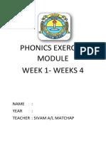 Phonics Exercise Module