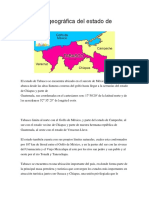 Ubicacion Geográfica Del Estado de Tabasco