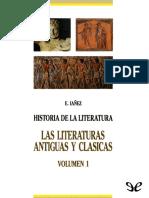 [Historia de la literatura universal 1] Las literaturas antiguas y clásicas - Iáñez, Eduardo.epub