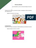 Tipos de Lenguaje Ilustrados