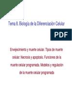 Tema 8 BDC. Senescencia y Muerte Celular