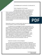 Implementación de Estrategias Para La Conservación y La Restauración de Ecosistemas