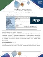 Anexo 3. Descripción Detallada Actividad Discusión