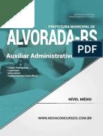 APOSTILA - Pref de Alvorada - Rs - Auxiliar Administrativo 384 Pgs Capa