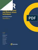 Symantec Report Fileless Attacks