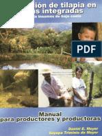2001. Producción de Tilapia en Fincas Integradas Usando Insumos de Bajo Costo. Zamorano, Honduras.