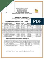 Organización de La Institución