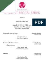 general recital
