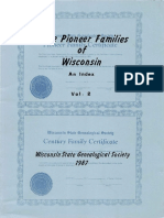 Some Pioneer Families of Wisconsin Vol 2