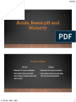 acids bases ph and molarity